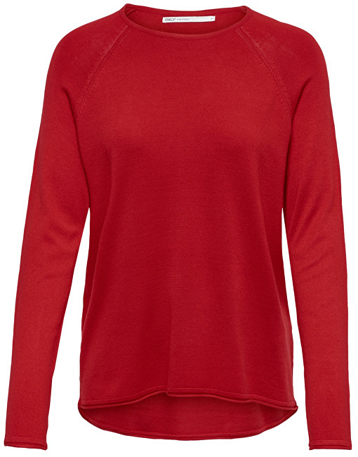 ONLY Pulover pentru fete Mila Lacy L/S Pullover Knt Noos High Risk Red XS