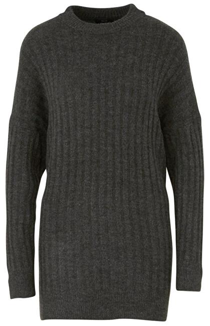 ONLY Doamnelor pulover ONLNEW MIRAMAR L / S Oversize puloverele KNT Dark Grey Melange L
