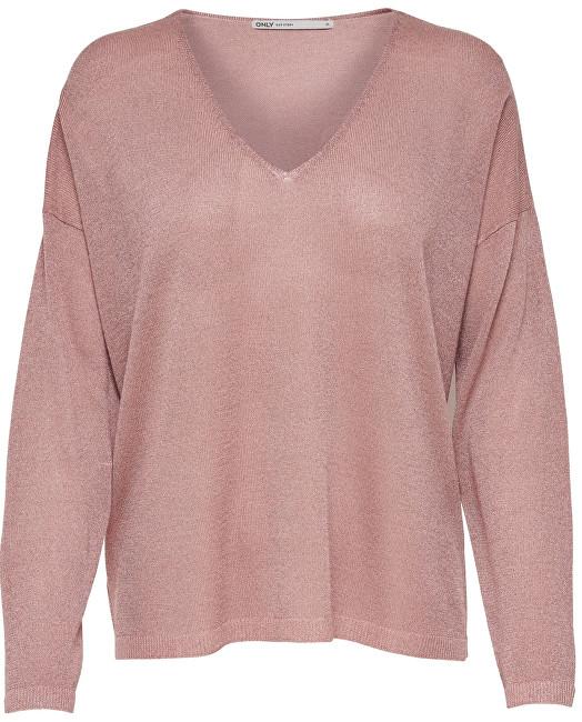 ONLY Pulover pentru femei Pisa L/S V-Neck Pullover KNT Noos Misty Rose M
