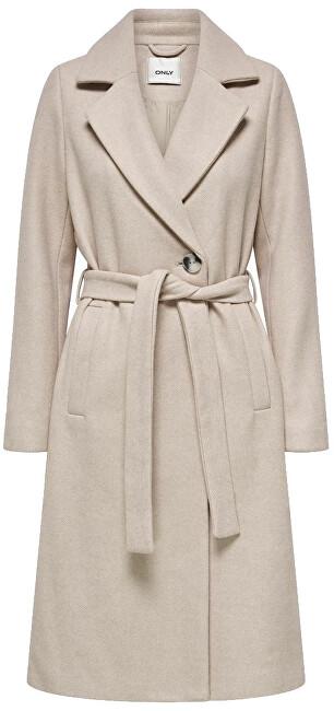 ONLY Dámsky kabát ONLGINA 15205430 Humus MELANGE