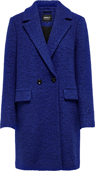 ONLY Dámsky kabát ONLNEWALLY 15205401 Sodalite Blue MELANGE