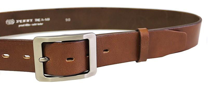 Penny Belts Curea din piele din piele 15948 Brown 110 cm