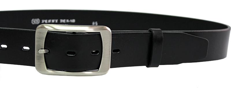 Penny Belts Piele din piele din piele 16263 Negru 100 cm