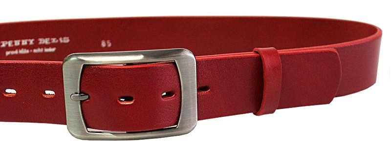 Penny Belts Curea din piele pentru femei 16293 Roșu 85 cm