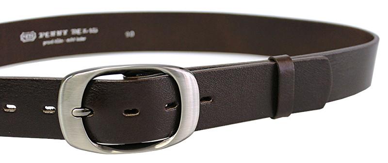 Penny Belts Curea din piele din piele 72NKS-04 Dark Brown 85 cm