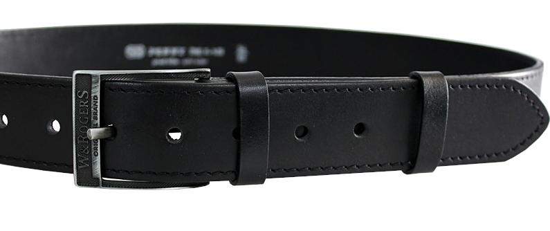 Penny Belts Pánsky kožený opasok 17-1-60 Čierny 90 cm