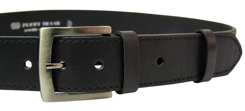 Penny Belts Pánsky kožený opasok 25-1-60 Čierny 90 cm