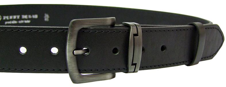 Penny Belts Pánsky kožený opasok 9-1-60 Čierny 120 cm