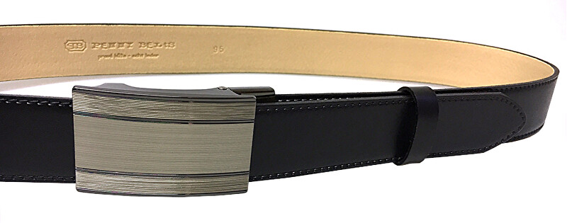 7ecf0a5f3 Penny Belts Pánsky kožený spoločenský opasok 35-020-A7 Čierny 90 cm