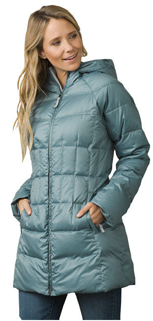 Prana Dámska bunda Imogen Long Jacket Bayou Blue S