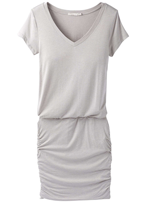 Prana Dámske šaty Foundation Dress Light Grey Heather S