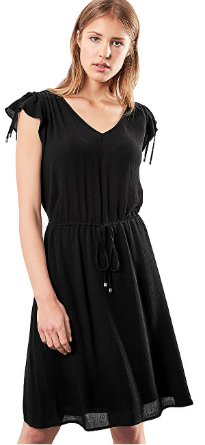 1f6b19cb6684 Q S designed by Dámske čierne krepové šaty 36