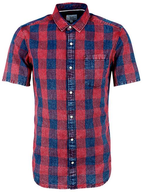 Q S designed by Pánská kostkovaná košile extra slim fit 1 2 S 856016dfa3