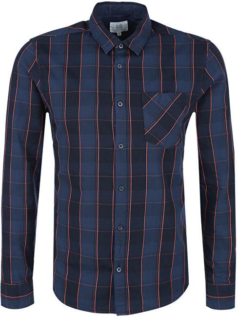 Q S designed by Pánská modrá kostkovaná košile extra slim fit XL ac1ce1d51e