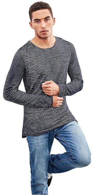 e0a63826df425 Q/S designed by Pánske modré tričko s dlhým rukávom S