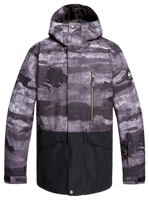 Quiksilver Mens jacket Mission Printed Block Jk Black Matte Painting EQYTJ03237-KVM9 M
