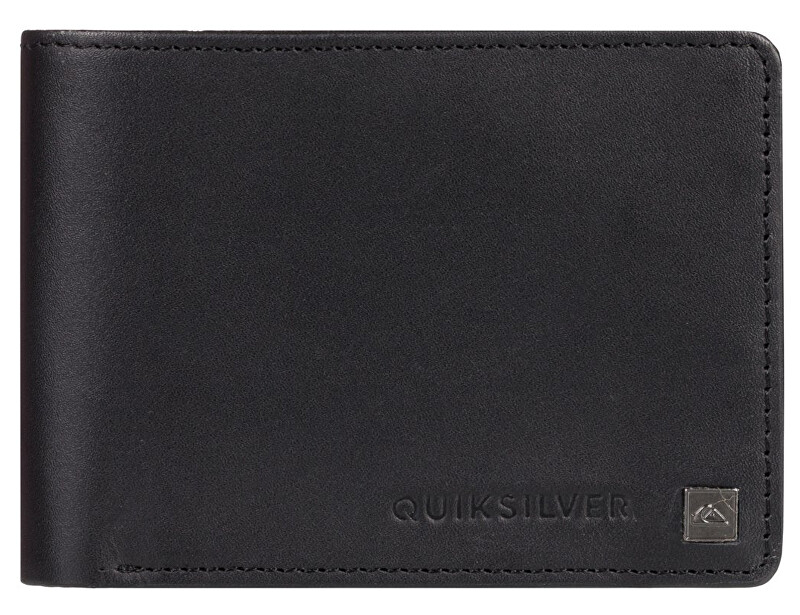 Quiksilver Pánska kožená peňaženka Mack IX Black Black EQYAA03813-KVJ0