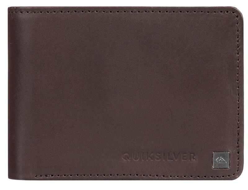 Quiksilver Pánska kožená peňaženka Mack IX Chocolate Brown EQYAA03813-CSD0