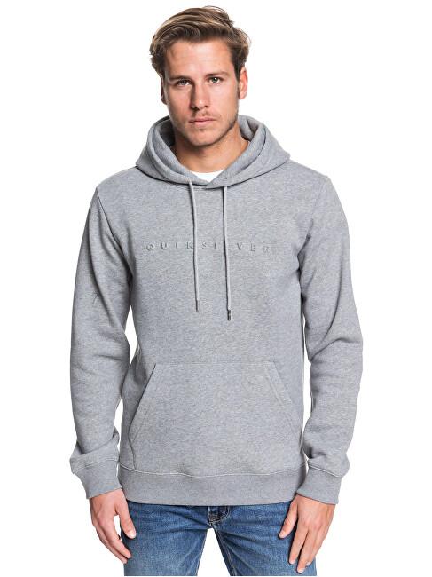 Quiksilver Pánska mikina Emboss Hood Medium Grey Heather EQYFT04024-KPVH S
