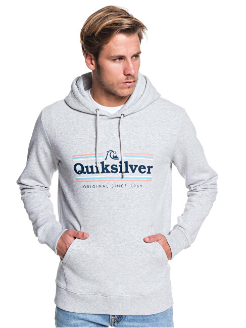Quiksilver Hanorac pentru bărbați Get Buzzy Screen Fleece Athletic Heather EQYFT04045-SGRH L