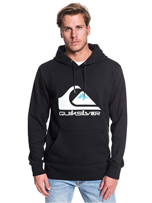 Quiksilver Men´s hoodie Omni Logo Screen Fleece Black EQYFT04025-KVJ0 L