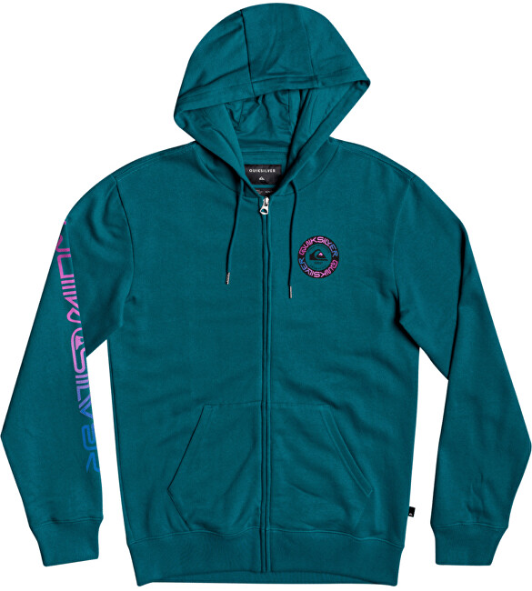 Quiksilver Pánska mikina Time Circle Screen Fleece EQYFT04207-BRS0 S