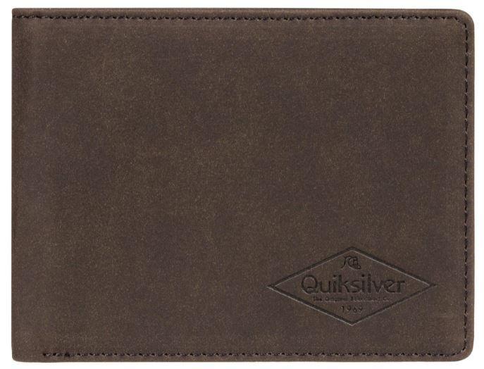 Quiksilver Pánska peňaženka Slim Vintage III Chocolate Brown EQYAA03848-CSD0