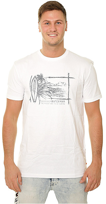Quiksilver Tricou pentru bărbați Simple Lines White EQMZT03143-WBB0 L