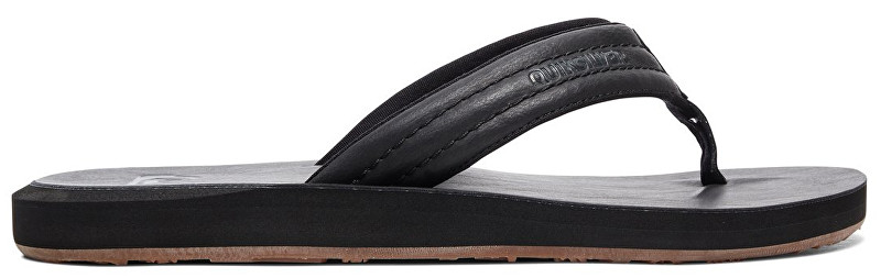 Quiksilver Slapi flip flops Carver Nubuck Solid Black AQYL100623-SBKM 43