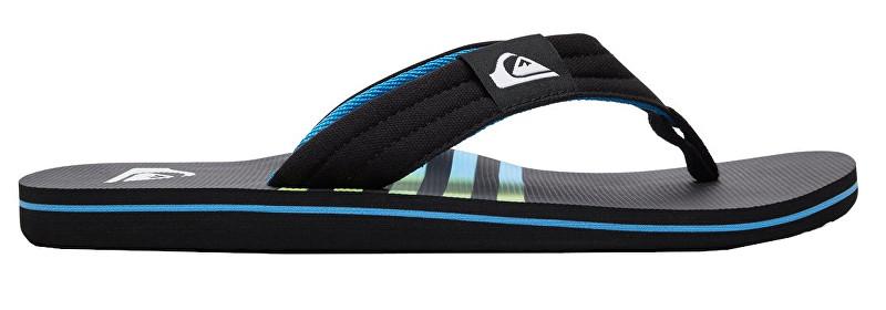 Quiksilver Men´s Flip Flops Molokai Layback Black/Black/Blue AQYL100784-XKKB 43
