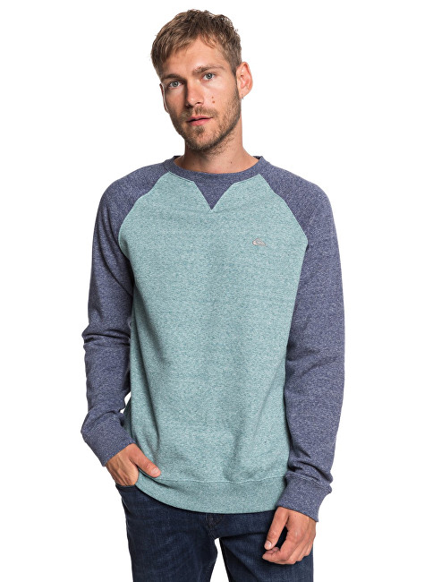 Quiksilver Pánska mikina Every day Crew Storm y Sea Heather EQYFT03847-BLHH M