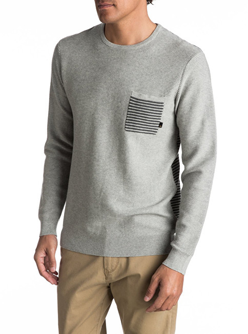 Quiksilver Sveter Baggao Light Grey Heather EQYSW03197-SGRH S