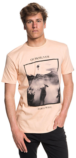 Quiksilver Tričko Wave Party Ss Peach Parfait EQYZT04948-MEF0 S