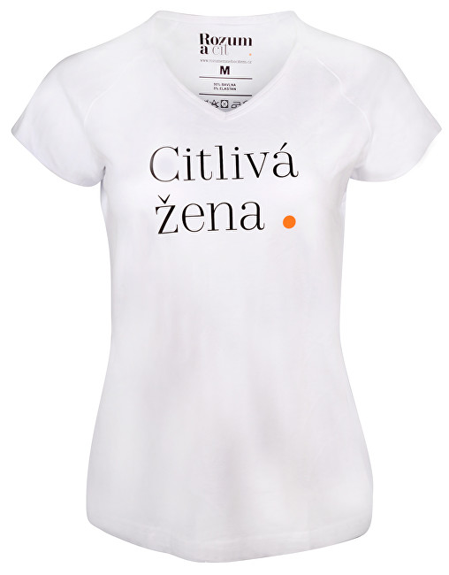 Rozum a cit Dámske tričko Citlivá žena S