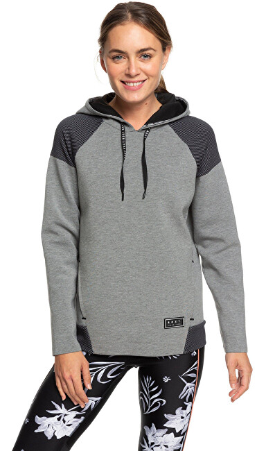 Roxy Hooded Midnight Call Charcoal Heather ERJFT04054-KTE1 S