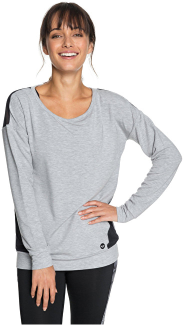 Roxy Dámska mikina Under Moon light Fleece Heritage Heather ERJFT03780-SGRH XS
