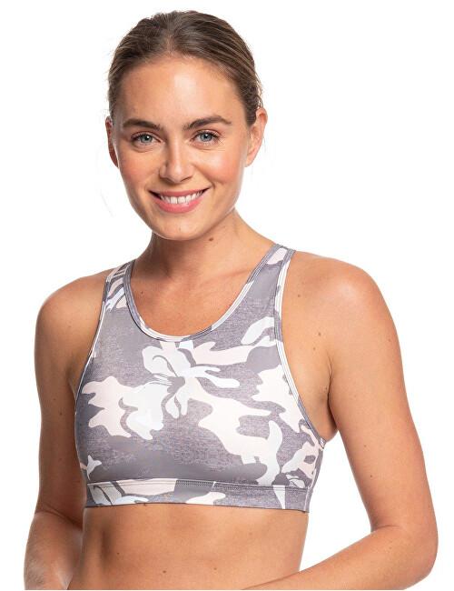 Roxy Dámská sportovní podprsenka Lets Dance Bra Printed Charcoal Heather Darwin S ERJKT03618-SZCH S Roxy