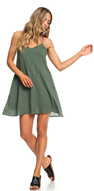 Roxy Dámske šaty Off We Go Dress Duck Green ERJWD03294-GPL0 M