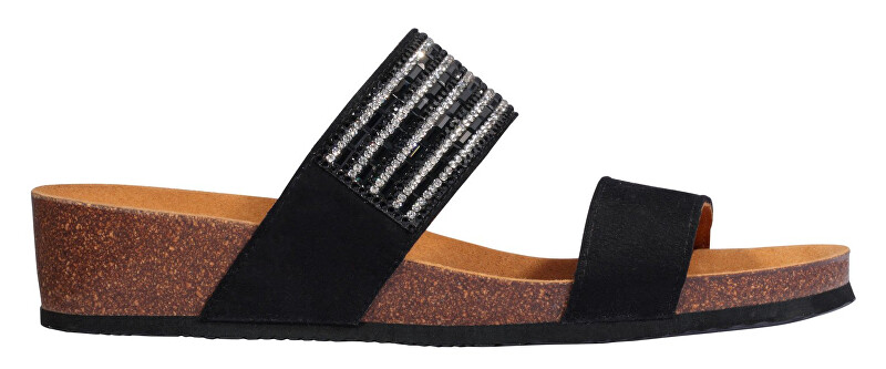 Scholl Dámské pantofle Daphne Bioprint Black F274141004 37 Scholl