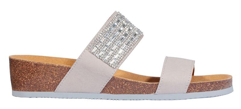 Scholl Dámské pantofle Daphne Bioprint Light Grey F274141070 40 Scholl