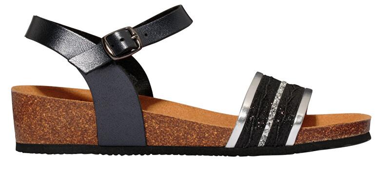 694d4dffddaf8 Scholl Dámske sandále Ivette Bioprint Black F274151004 36