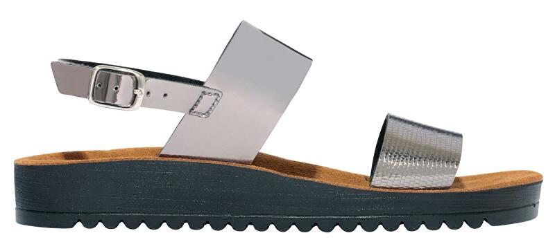 e32de81a722c3 Scholl Dámske sandále Cynthia Sandal Memory Cushion Pewter F274351047 39