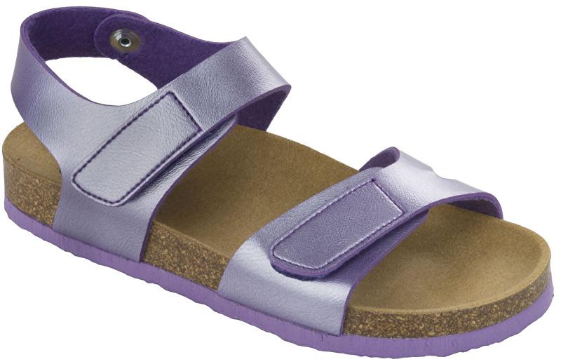 Scholl Detské sandále Dinder Kid Bioprint Lilac F265691033 28