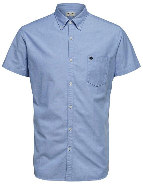 SELECTED HOMME Cămașă pentru bărbați Regcollet Shirt Ss W Noos Light Blue L