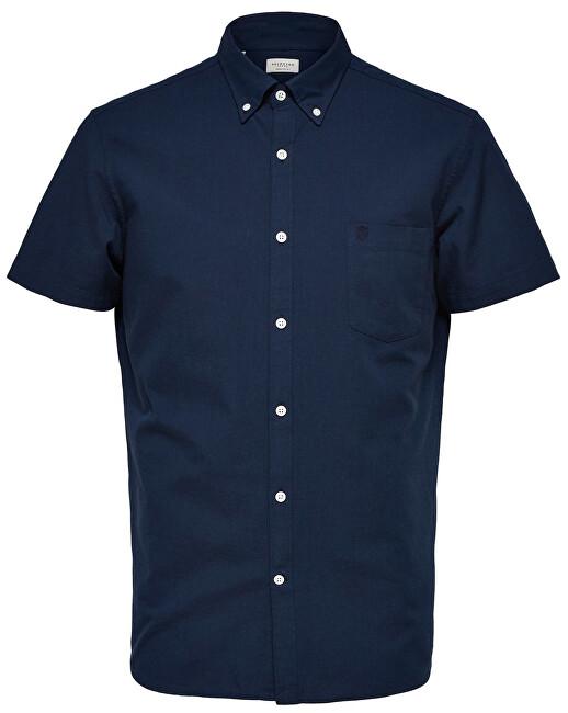 SELECTED HOMME Cămașă pentru bărbați Regcollet Shirt Ss W Noos Moonlit Ocean XXL