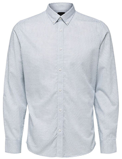 SELECTED HOMME Pánská košile SLHSLIMKINO SHIRT LS MIX B Bright White AOP XXL