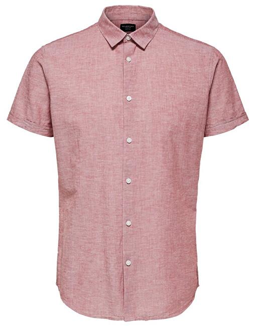 SELECTED HOMME Cămașă pentru bărbați Slimlinen Shirt Ss Classic B Brick red Tops B 9 XXL