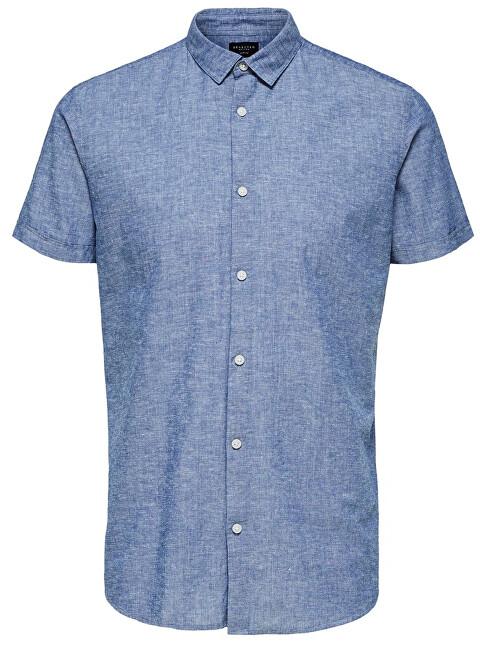SELECTED HOMME Cămașă pentru bărbați Slimlinen Shirt Ss Classic B Medium blue Tops B 9 XXL