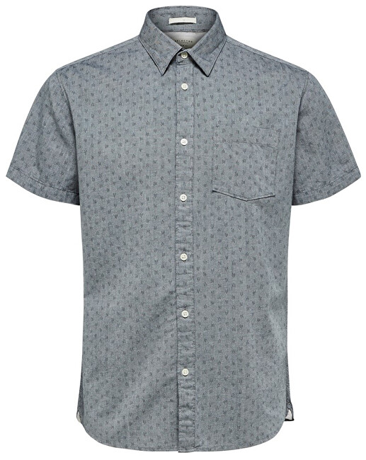 SELECTED HOMME Tricou pentru bărbați Slimmatthew Shirt Ss Aop W Smoked Pearl S
