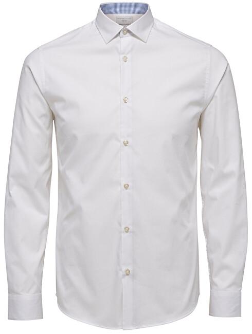 SELECTED HOMME Tricou pentru bărbați SlimNew-Mark Shirt Ls B Noos Bright White L
